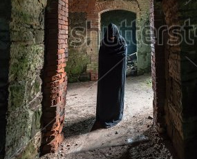 stock-photo-mystic-apparition-of-a-ghost-in-an-old-castle-160978772